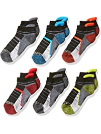Fruit of the Loom Big Boy's 6 Pack Sport Low Cut Socks