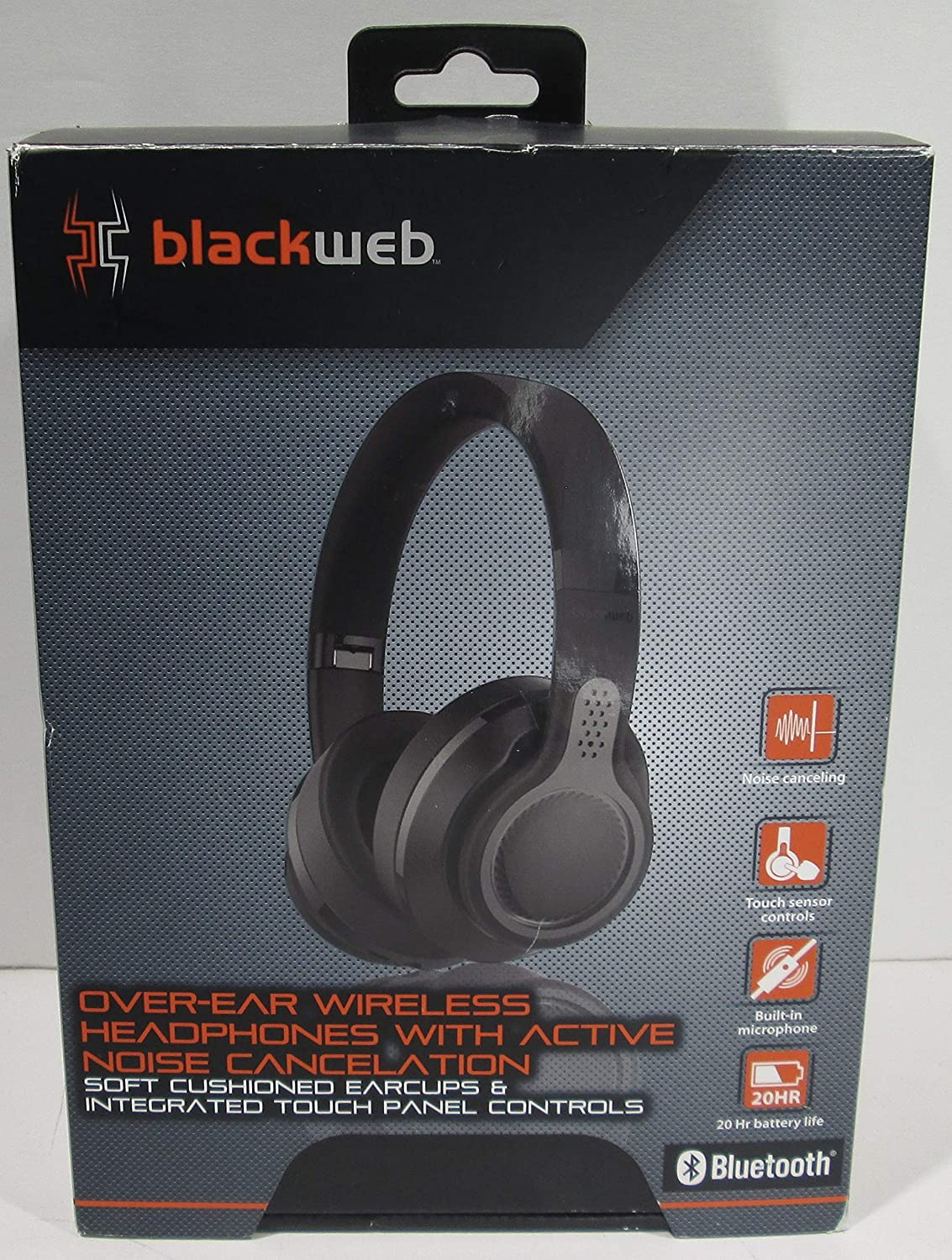 Bluedio T400BX Turbine Active Noise Cancelling Over-Ear Swiveling Wireless Bluetooth Headphones with Mic Black