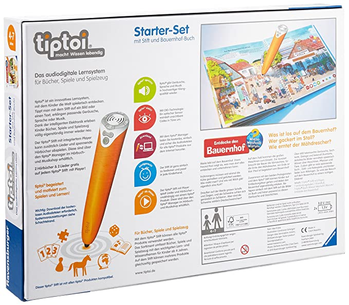 Ravensburger 00502 - tiptoi: Starter-Set mit Stift und Buch: Amazon ...
