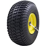 """15x6.00-6"""" Front Tire Assembly Replacement for 100 and 300 Series John Deere Riding Mowers"""