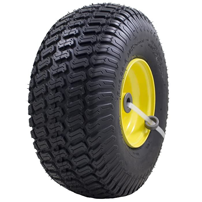 "MARASTAR 21426 Deere Riding Mowers 15x6.00-6"" Front Tire Assembly Replacement for 100 and 300 Series John, 15"" x 6"""