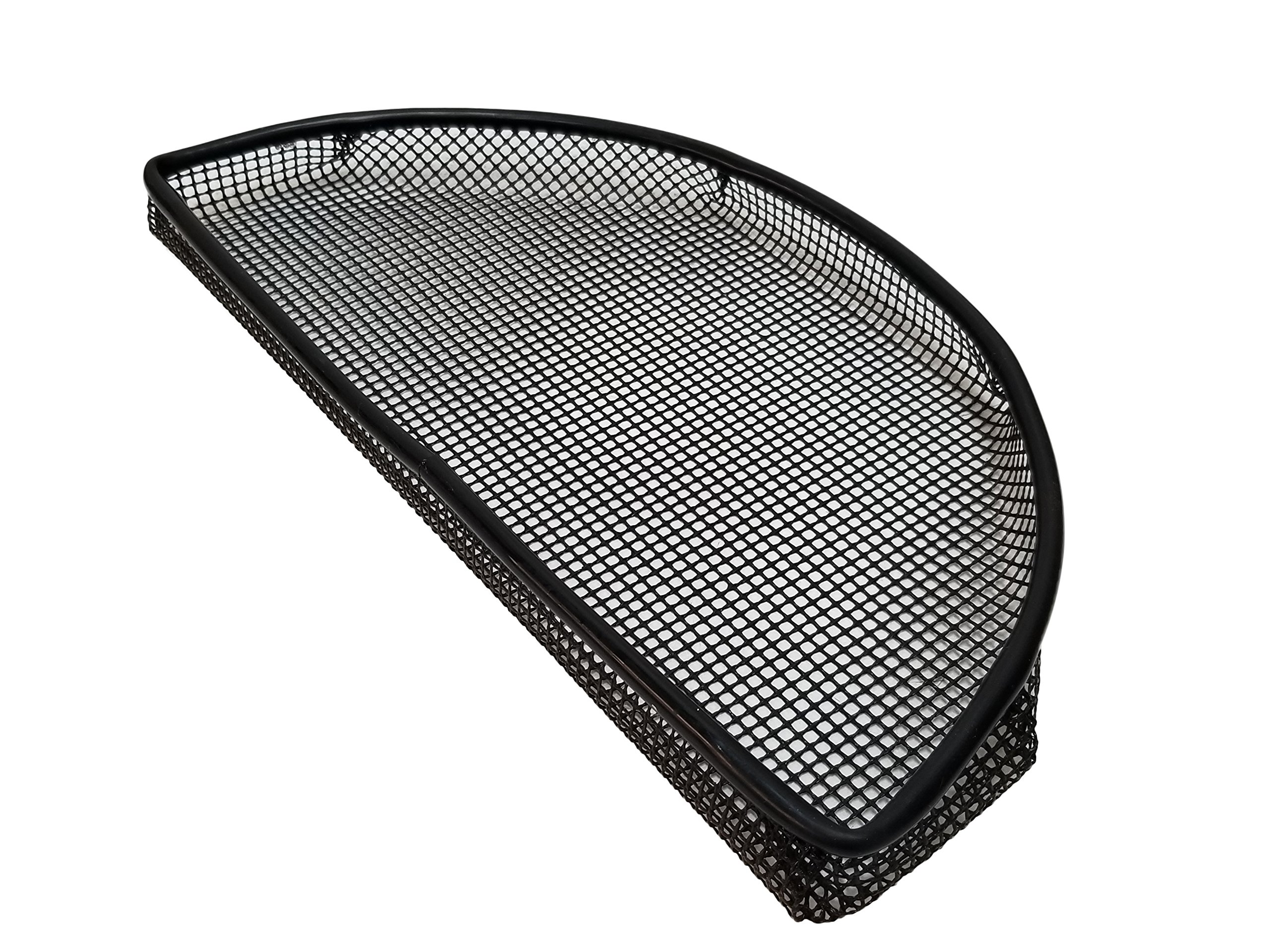 15'' x 8'' PTFE Wide Mesh Half Moon Grill basket with reinforced metal ring for Smokers like The Big Green Egg and other Kamado cookers