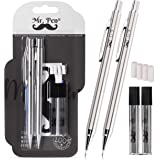 Mr. Pen- Mechanical Pencils 0.9, Pack of 2, Metal Mechanical Pencil with Lead and Eraser, Drafting Pencil, Drawing Pencil, Me