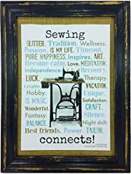 Sewing connects. Druck Poster Nähmaschine AnneSvea Sewing Machine Handmade english Crafting