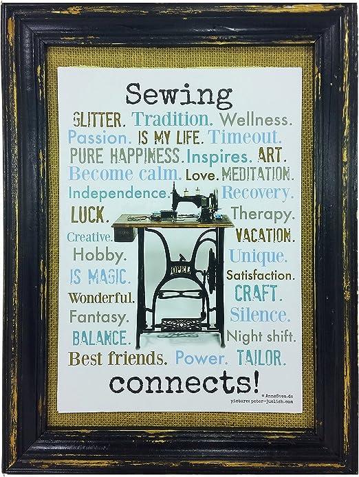 AnneSvea Sewing Connects. Imagen impresa, diseño con máquina de ...