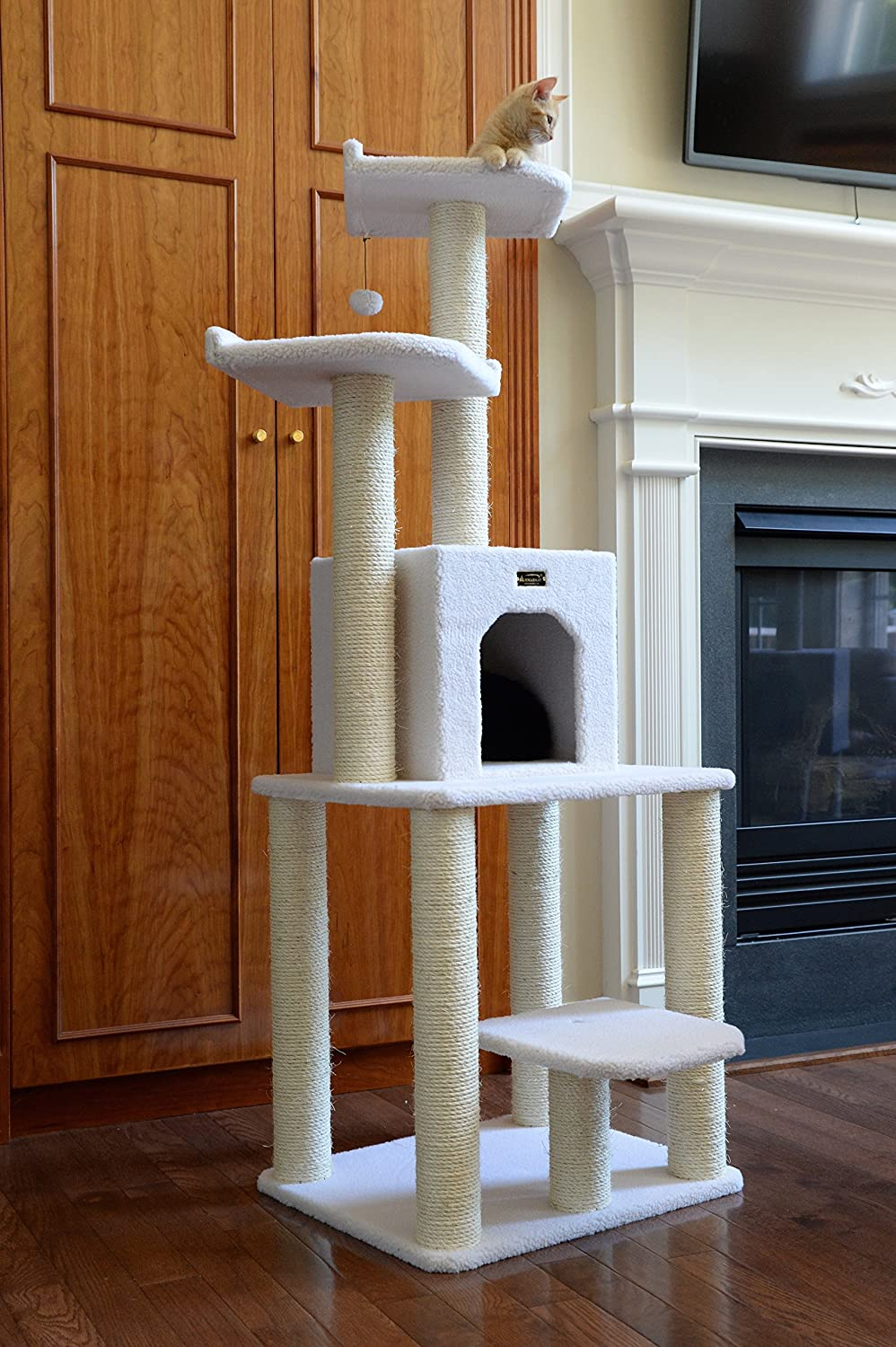 Amazon.com : Armarkat 62 Inch Cat Tree, Model B6203, Ivory : Cat Tower :  Pet Supplies