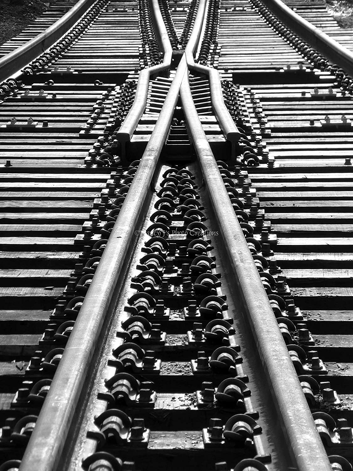 Amazon com black and white linear geometric print unframed railroad