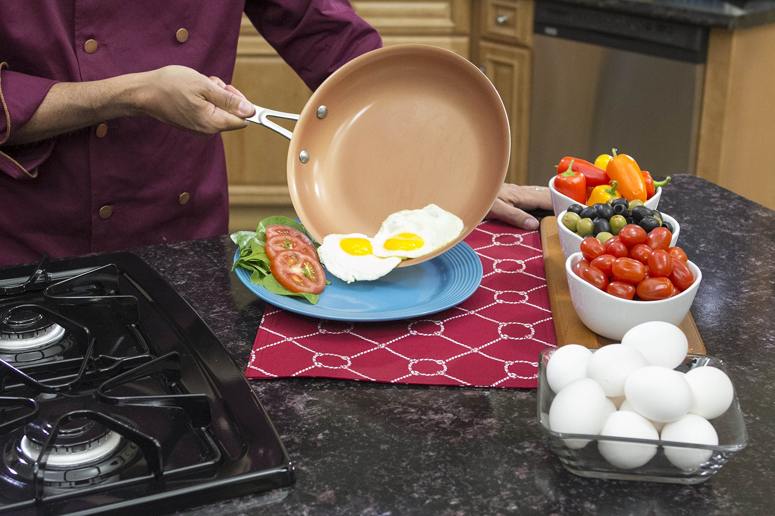 GOTHAM STEEL 9.5 inches Non-stick Titanium Frying Pan by Daniel Green by GOTHAM STEEL (Image #4)