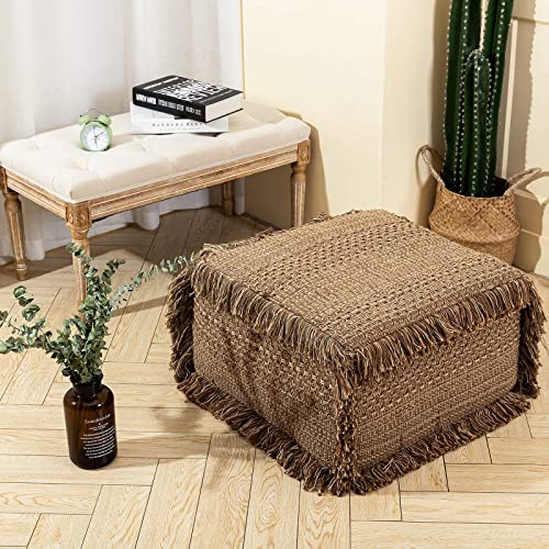 idee-home Boho Unstuffed Pouf Cover Ottoman Foot Rest Stool