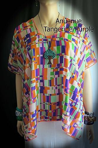 a2c71811c4 Amazon.com: Anuenue (Rainbow) Women's Sheer Hawaiian Cover-up blouse ...