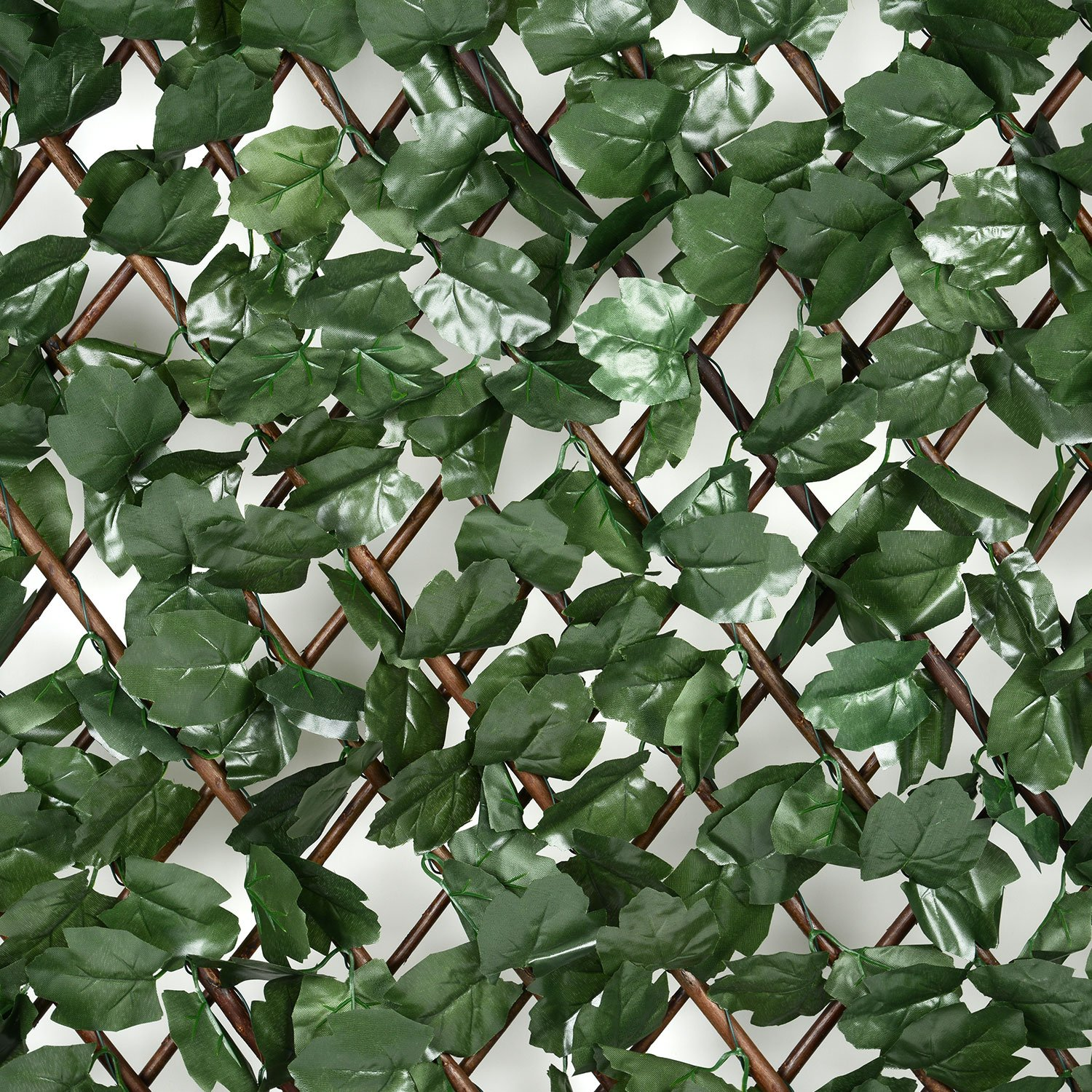 expandable trellis with leaves extends to 2m long garden wooden