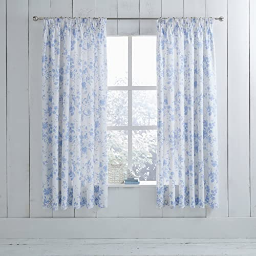 Blue Patterned Curtains Amazoncouk Custom Blue Patterned Curtains