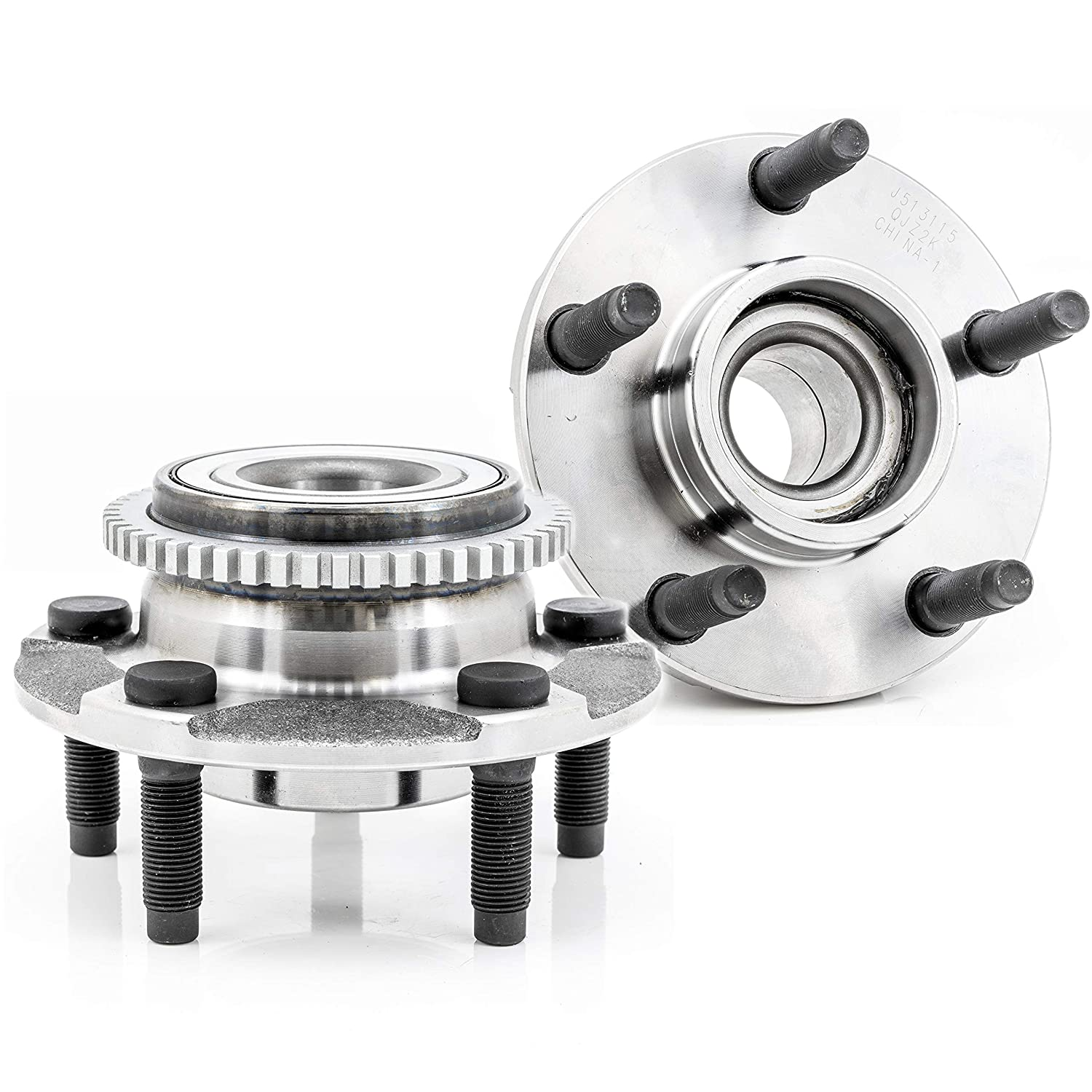 2-Pack//Pair 513115 Front Driver and Passenger Side Wheel Hub and Bearing Assembly for 1994-2004 Ford Mustang QJZ