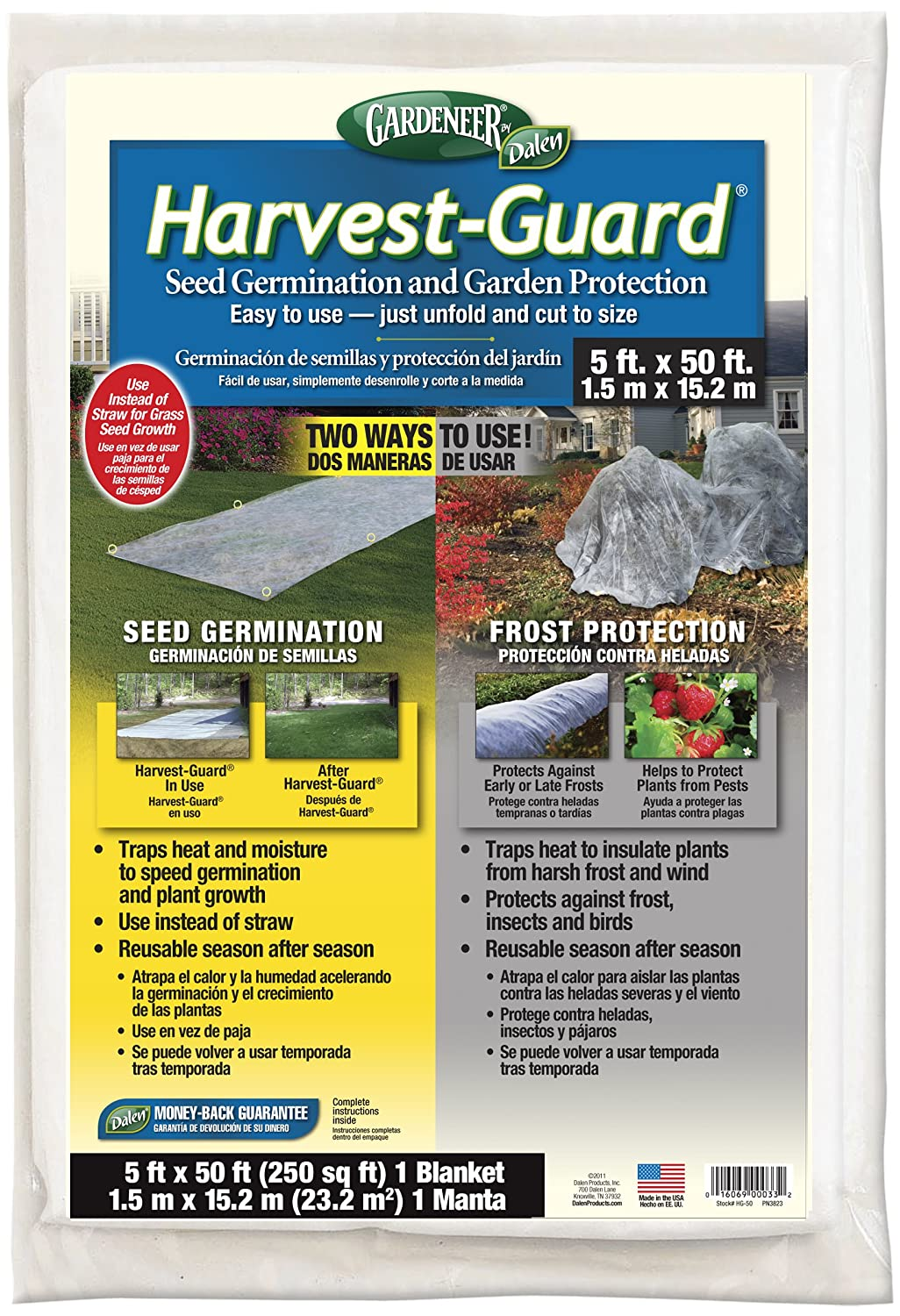 Gardeneer by Dalen Harvest-Guard Seed Germination & Garden Protection Cover 5' x 50'