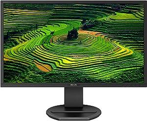 "Philips Computer Monitors Philips 221B8LJEB 22"" Monitor, Full HD, USB hub, Speakers, Height Adjustable, VESA, TCO Edge, 4Yr Advance Replacement Warranty, Black"