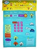 Ludi 2096 - Calendario educativo de tela para colgar, color azul [importado de Francia]