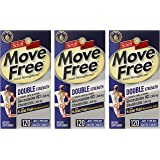 Schiff Move Free Joint Strengthener, Double Strength Glucosamine Chondroitin and Hyaluronic Acid, 120 Count (Pack of 3)…
