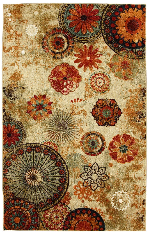 Amazon.com: Mohawk Home Strata Caravan Medallion Floral Printed Area Rug, 6  X 9, Multicolor: Kitchen U0026 Dining