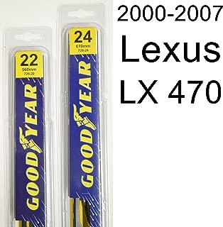 "product image for Lexus LX 470 (2000-2007) Wiper Blade Kit - Set Includes 24"" (Driver Side), 22"" (Passenger Side) (2 Blades Total)"