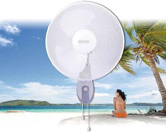 Sogo VEN-SS-21305 Ventilador de pared oscilante, 40 cm, 50 W ...