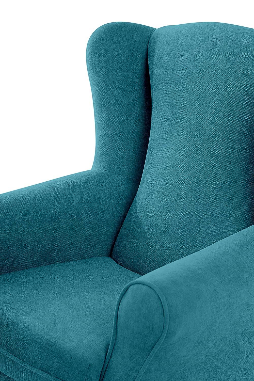 SUENOSZZZ - Sillon orejero balancin Mecedora. Irene (Sillon Lactancia) Sillón de hogar tapizado Antimanchas Color Turquesa. Mecedora para Dormitorio, ...