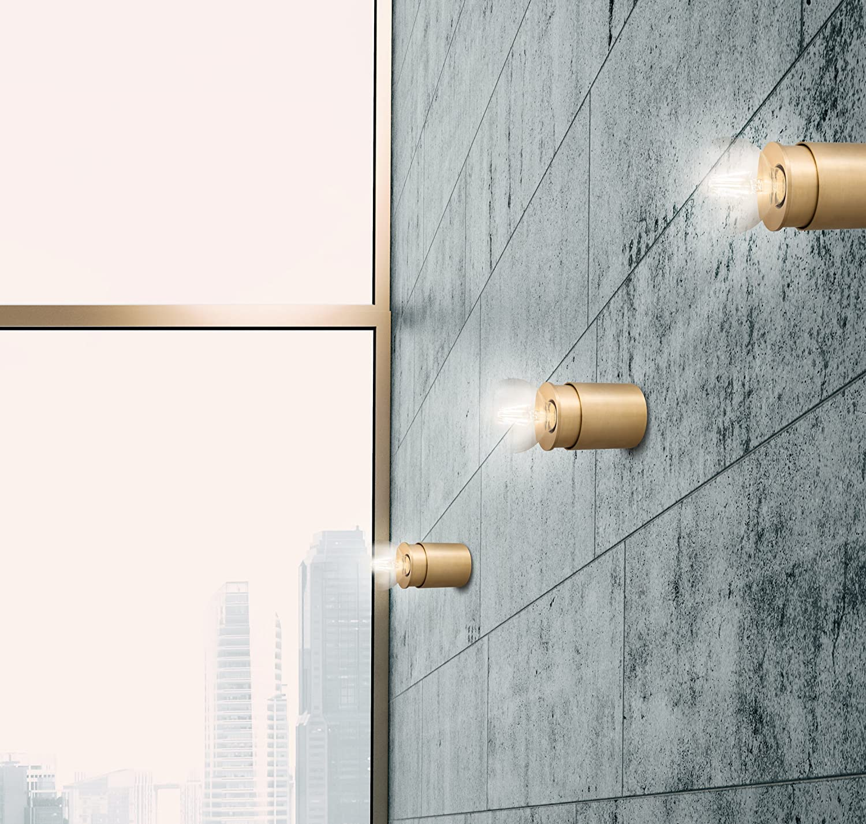 TWISTER Lighting PURE E27 Wand-/ Deckenleuchte, brass: Amazon.de ...