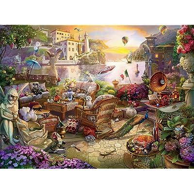 Ceaco Seek & Find Italian Terrace Puzzle - 1000Piece: Toys & Games