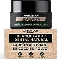 Blanqueador Dental de Carbon Activado de Coco en Polvo -100% Natural - Con Aceite Esencial de Coco, Naranja y Menta - No...
