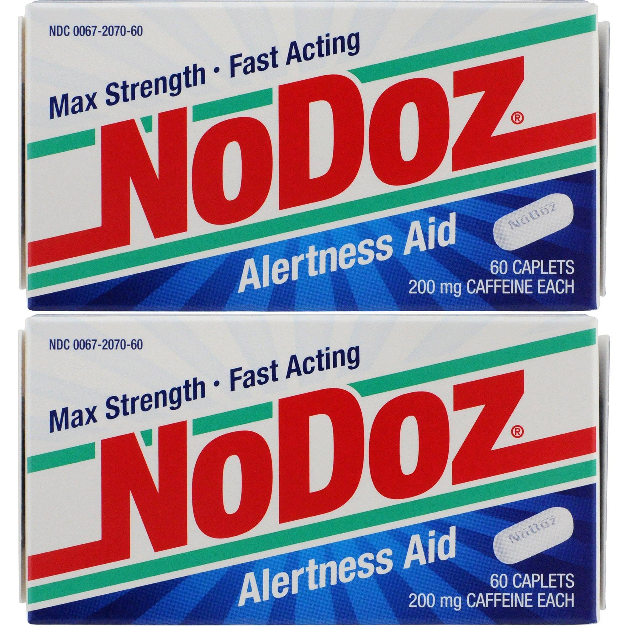 NoDoz Maximum Strength Alertness Aid 60 ct Caplets, Twin Pack