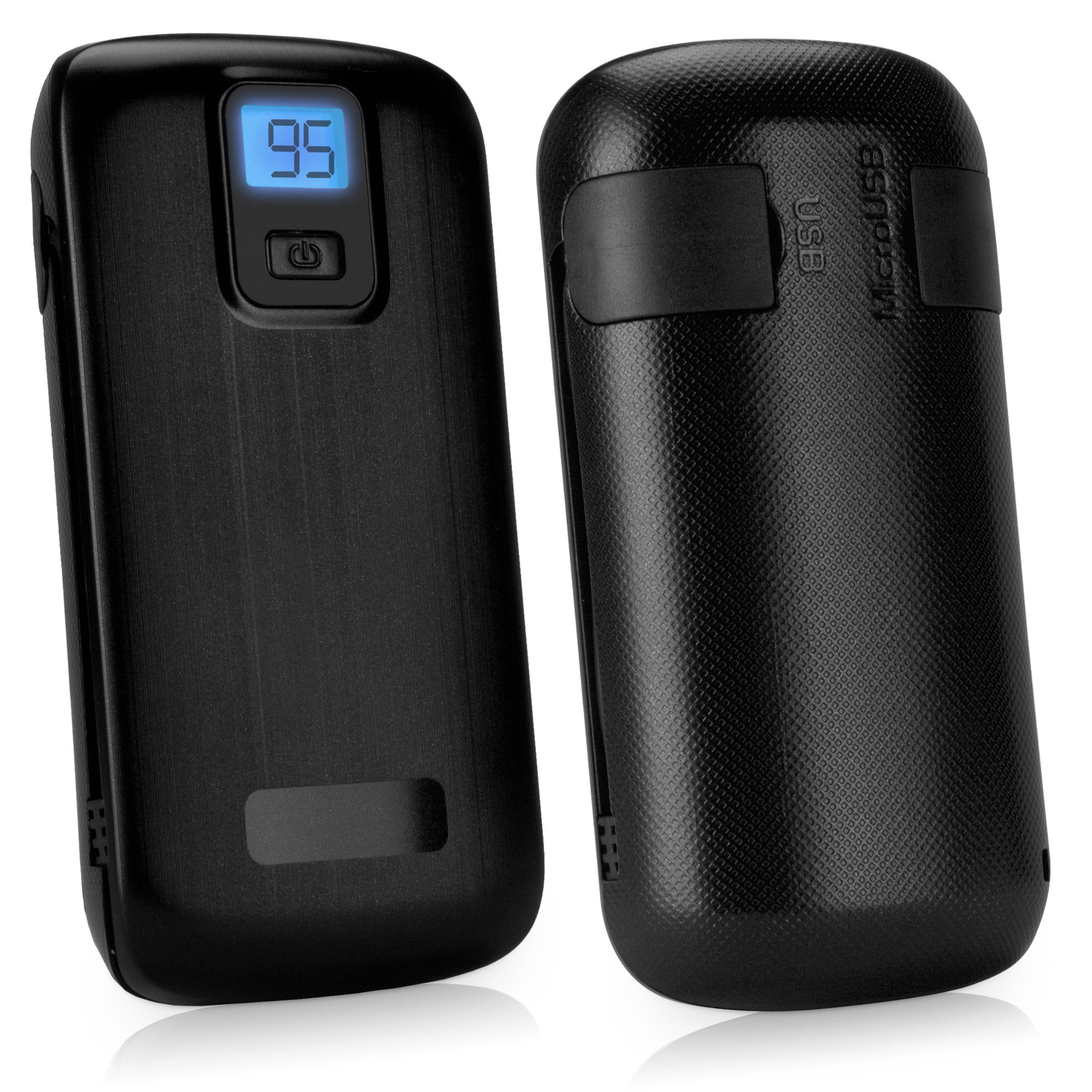 BoxWave Rejuva Power Pack Pro Power Bank - Compact, Portable 4,400 mAh Rechargeable Li-ion Battery Charger and Power Bank - Compatible with Apple iPhone 5, iPhone 6, iPad 3, iPad 4, iPad Air, Samsung Galaxy S4, Galaxy S5, OnePlus One, and many more! (Blac by BoxWave (Image #3)