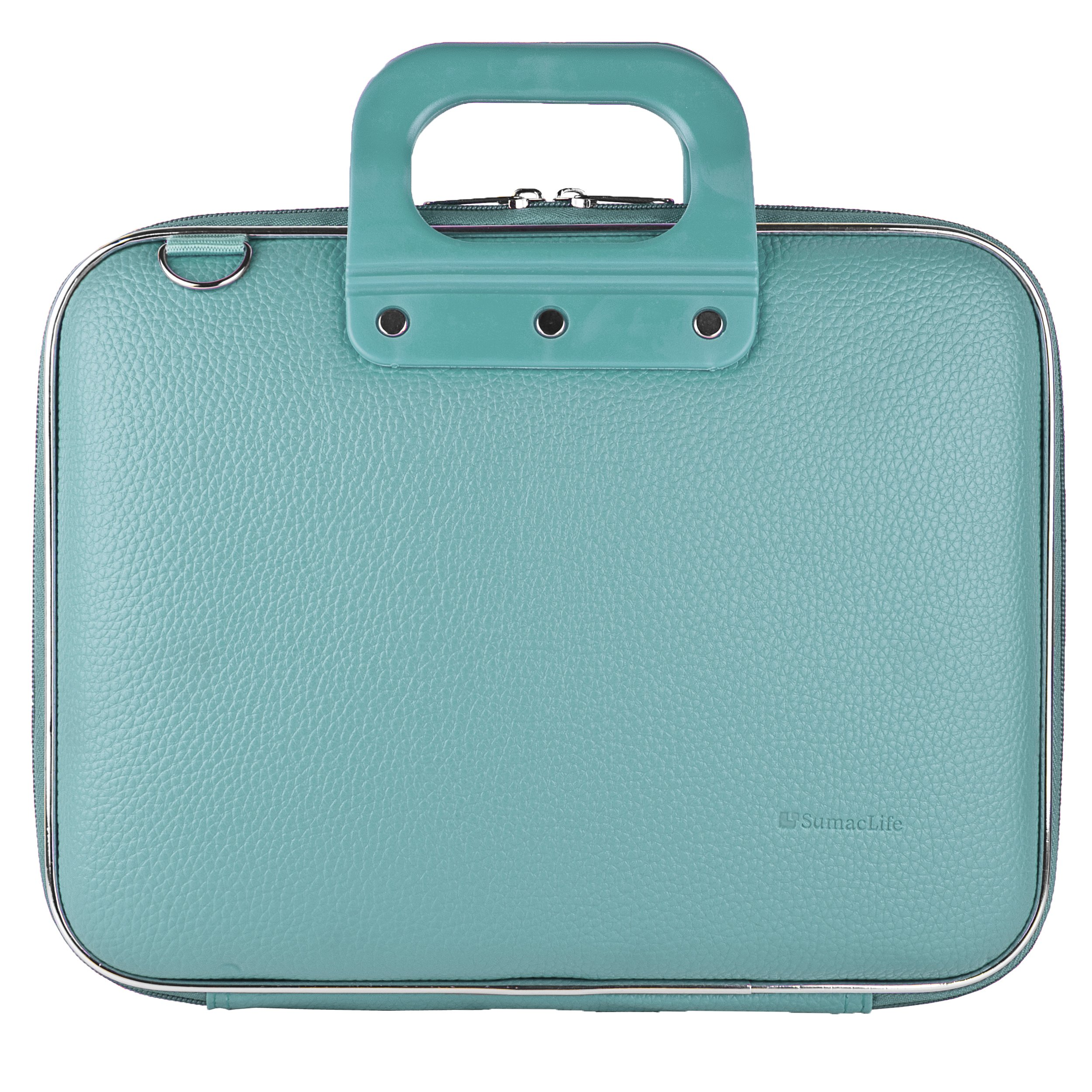 Aqua Shoulder Bag Briefcase for Sylvania 10-Inch/9 Inch Swivel Screen Portable DVD/CD/MP3 Player