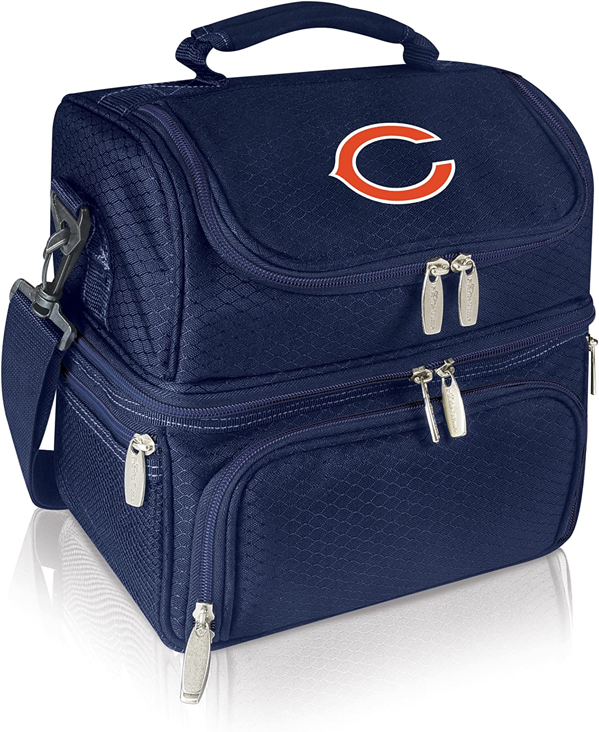 PICNIC TIME NFL Chicago Bears Pranzo Insulated Lunch Tote with Service for One, Navy