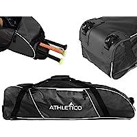 Athletico Rolling Baseball Bag - Wheeled Baseball Bat Bag for Baseball, TBall, Softball Equipment for Youth, Kids, and…