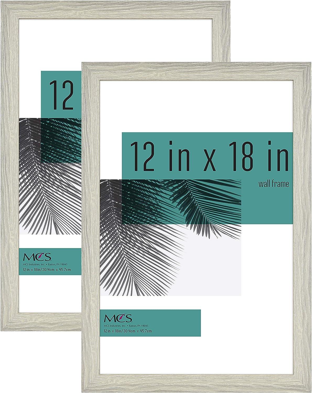 MCS Industries 63790 12x18 Inch 2-Pack, Gray Woodgrain Studio Gallery Frame, 12x18, 2 Count