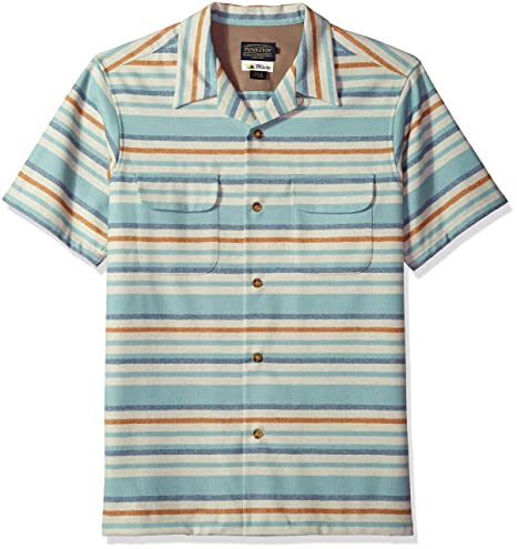 1950s Men's Shirt Styles – Dress Shirts to Casual Pullovers Pendleton Mens Short Sleeve Board Shirt $129.00 AT vintagedancer.com