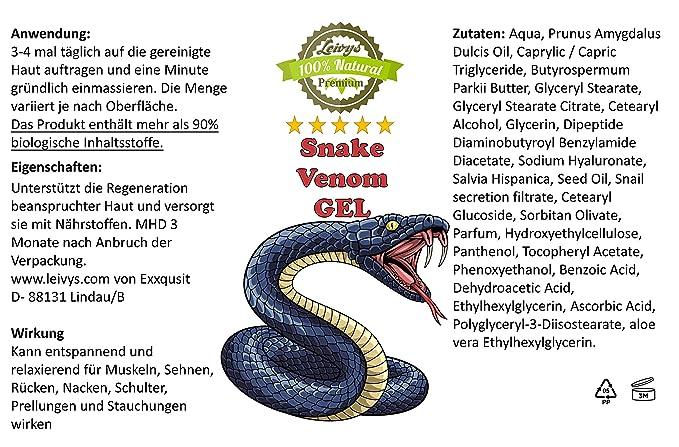 Increíble poder curativo de la naturaleza. Gel de masaje y dolor de veneno de serpiente de primera calidad: el olvidado