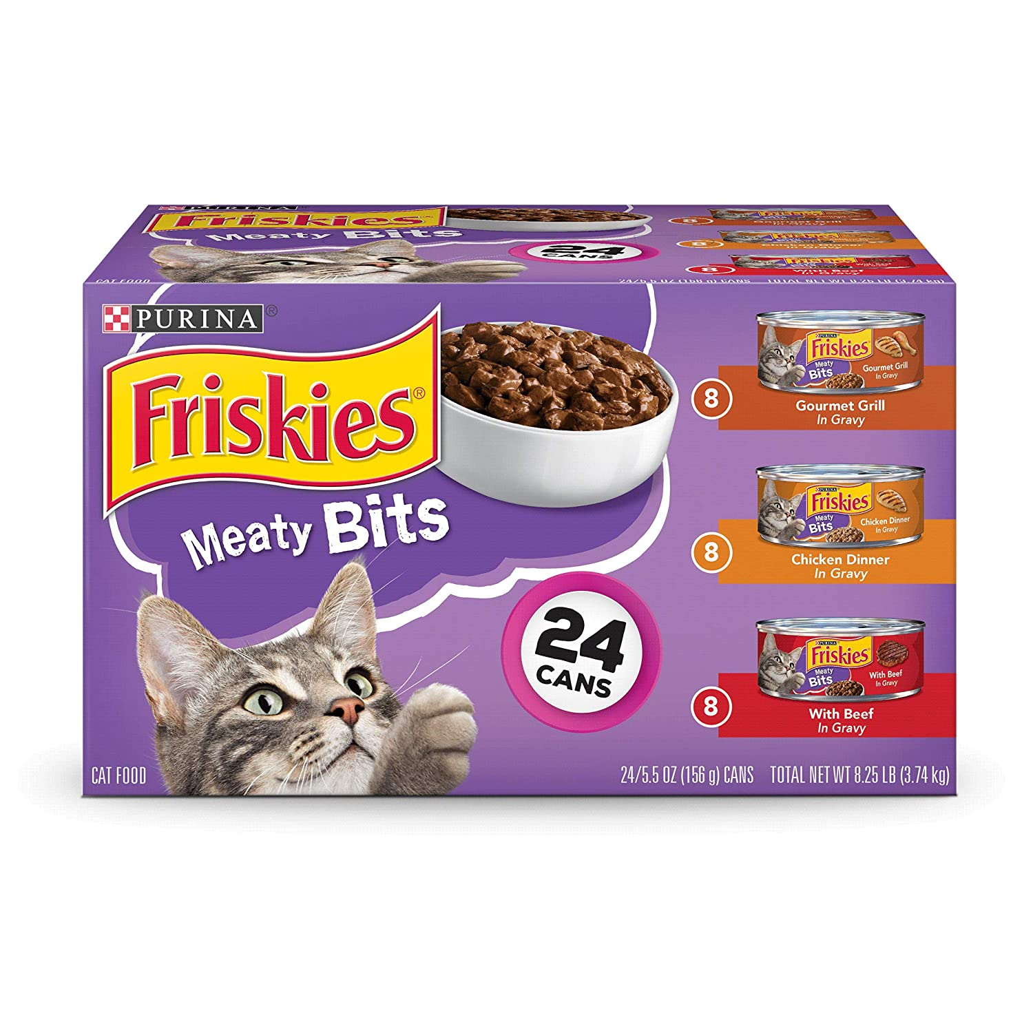 Friskies Meaty Bits Variety Pack (24 5.5-oz cans)