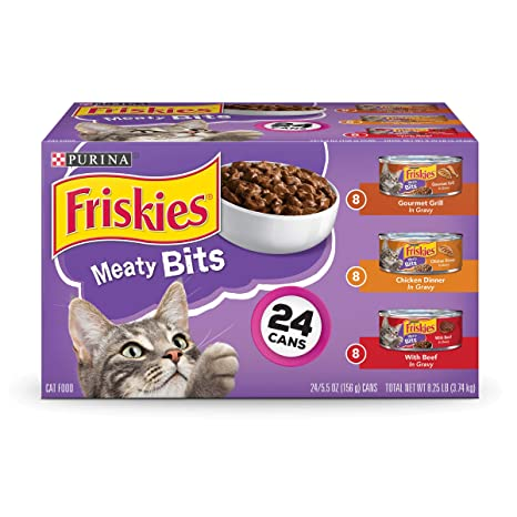 Friskies Wet Cat Food, Meaty Bits, 3-flavor Variety Pack, 5.5-