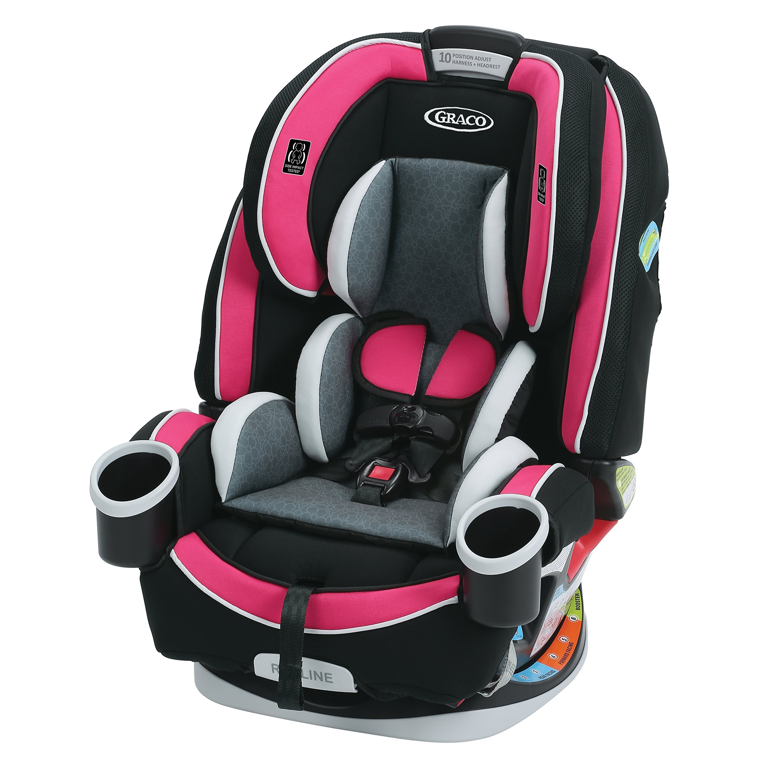 Graco 4Ever 4-in-1 Convertible Car Seat, Azalea