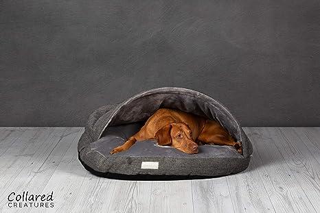 Cama para perro tipo cueva, grande, 889 mm, color gris ...