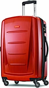 Samsonite Winfield 2 Hardside Expandable Luggage with Spinner Wheels, Orange, Checked-Medium 24-Inch