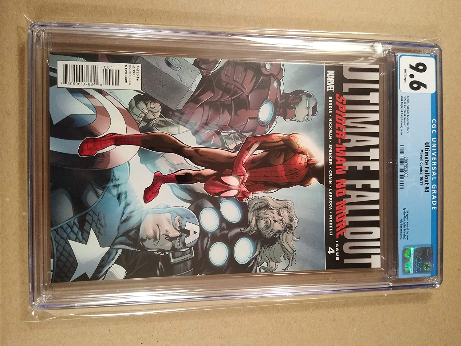 MILES MORALES FIRST SPIDER-MAN APPEARANCE ULTIMATE FALLOUT # 4  2ND MINT