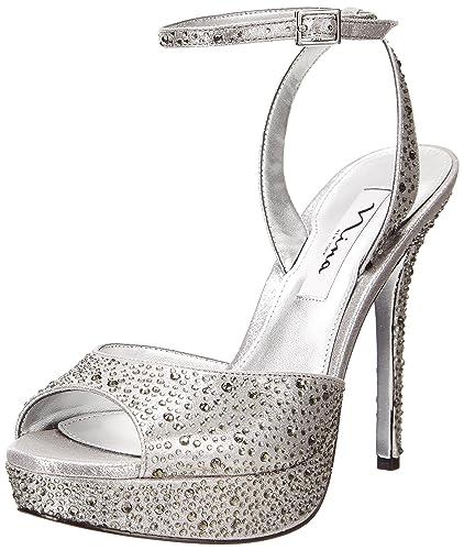 Nina Womens SevilleFY Dress Sandal SHIMM PEACH Size 90