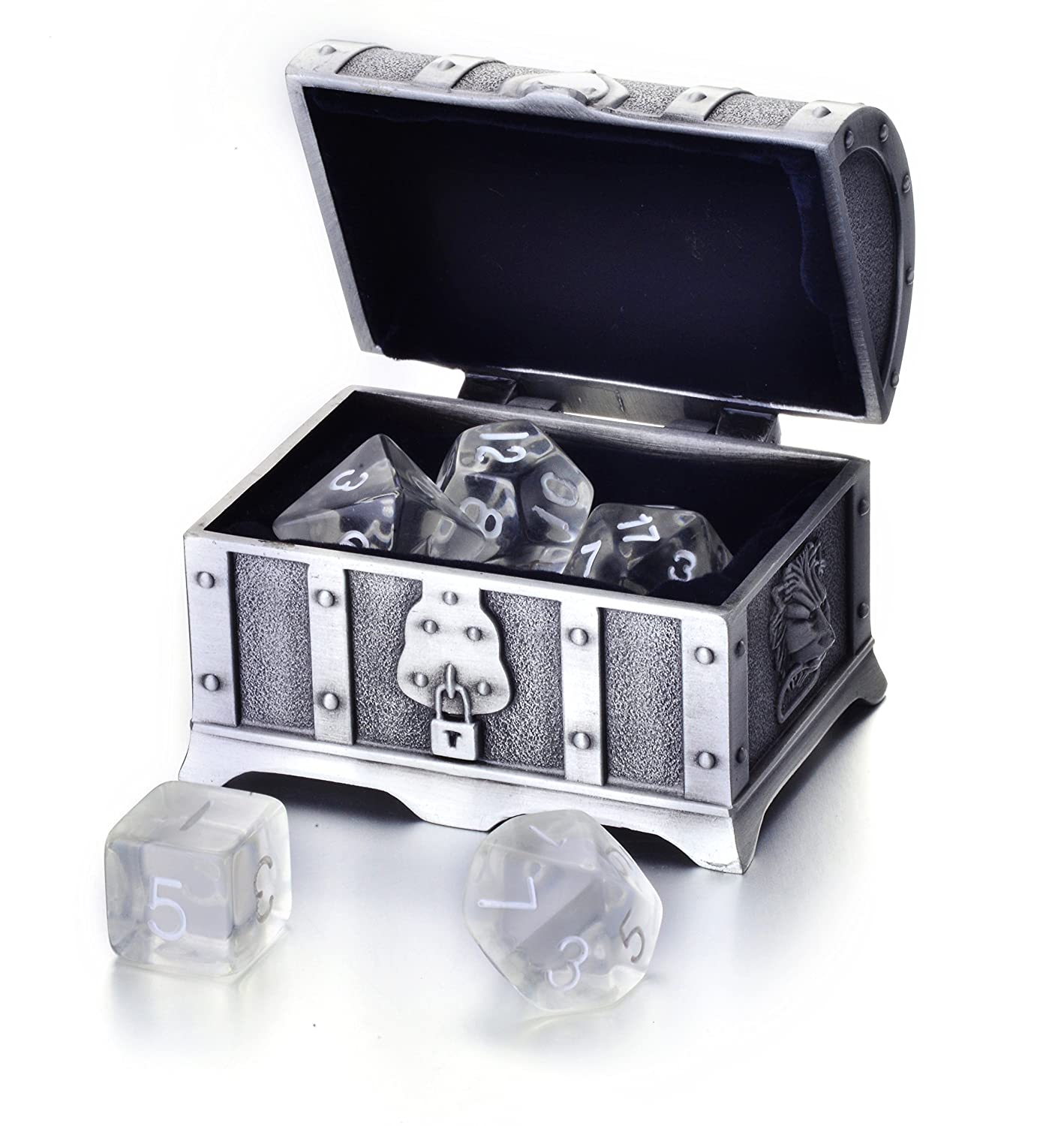 特売 Polyhedral Dice 7-Die B073WLLS6R Set w (Transparent/Treasure Chest (Transparent Clear ) ) B073WLLS6R, 全てのアイテム:6e9a5fd8 --- hohpartnership-com.access.secure-ssl-servers.biz