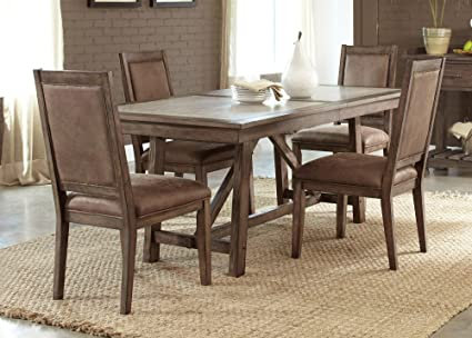 Liberty Furniture 466 T4096 Stone Brook Dining Trestle Table, 40u0026quot; X  96u0026quot;