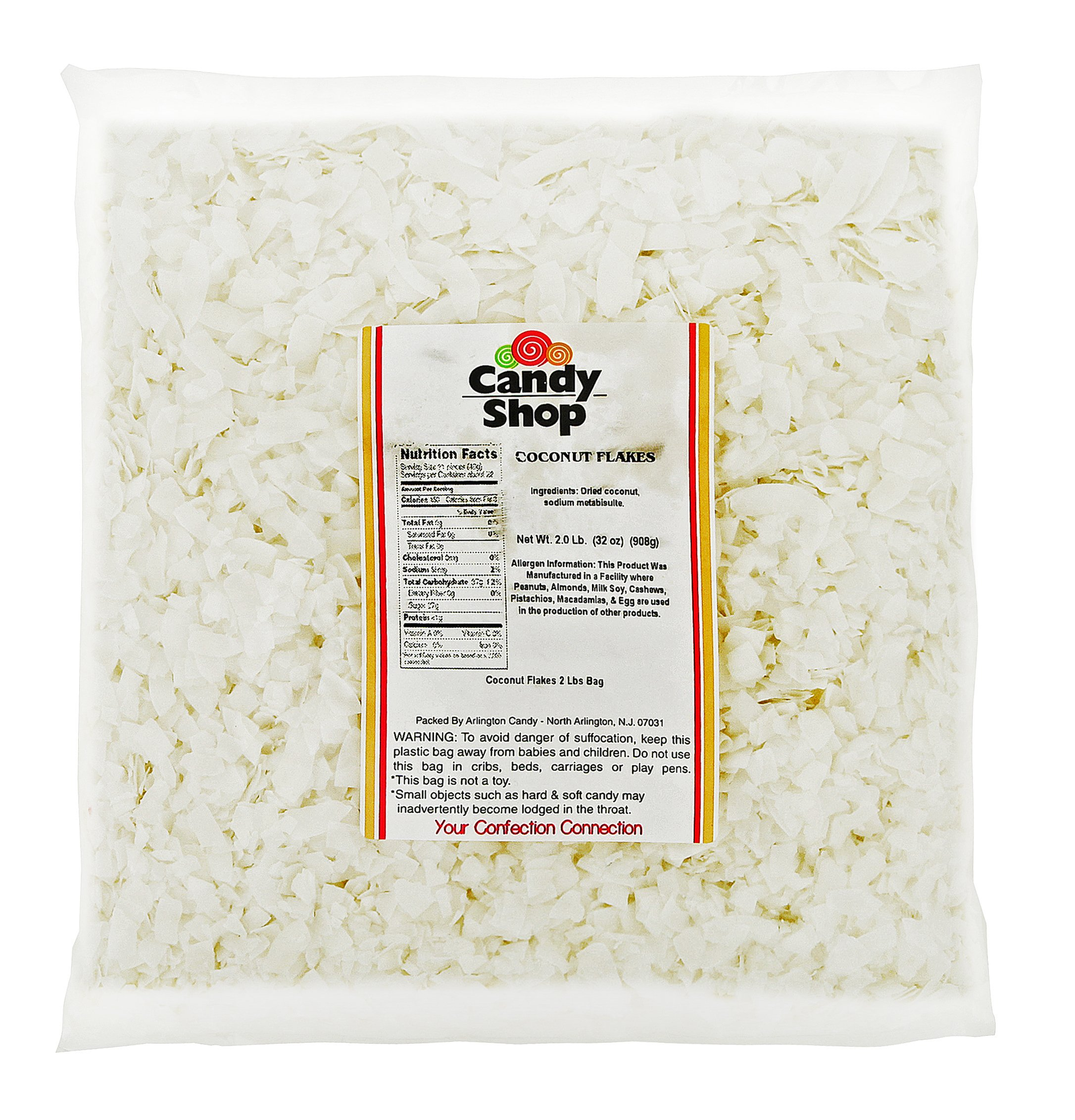 Candy Shop Coconut Flakes (Unsweetened) 2 Lb Bag