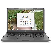 HP Chromebook 14-inch Laptop with 180-degree hinge, Intel Celeron N3350 Processor, 4 GB RAM, 32 GB eMMC storage, Chrome OS (14-ca040nr, Gray)
