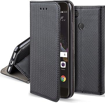 Moozy Funda para Huawei P8 Lite 2017, Negra: Amazon.es: Electrónica