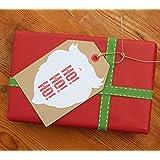 Santa Ho Ho Ho Giant Christmas Gift Tags 10 Pack