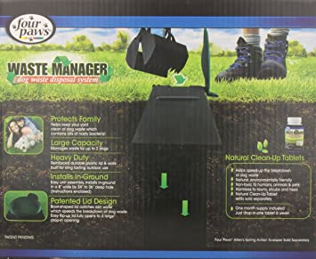 Amazon.com : Four Paws Waste Manager Dog Disposal System : Pet ...